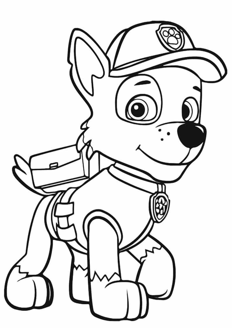 Psi Patrol kolorowanka