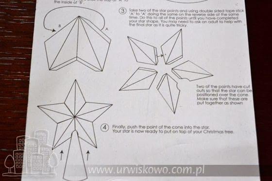 gwiazda z papieru wzór