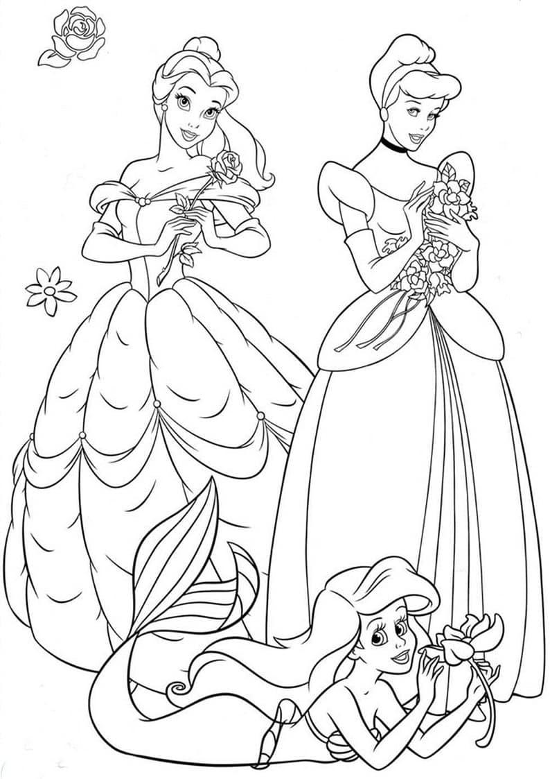Kolorowanki Disney Do Wydruku Myszka Miki Ksiezniczki Auta