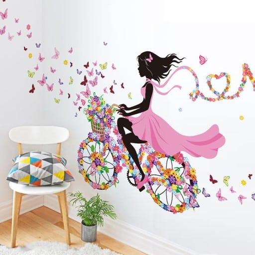naklejki na ścianę dla dziewczynek