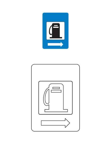 Znak stacji benzynowej