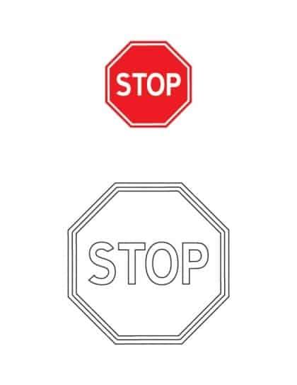 znak stop dla dzieci