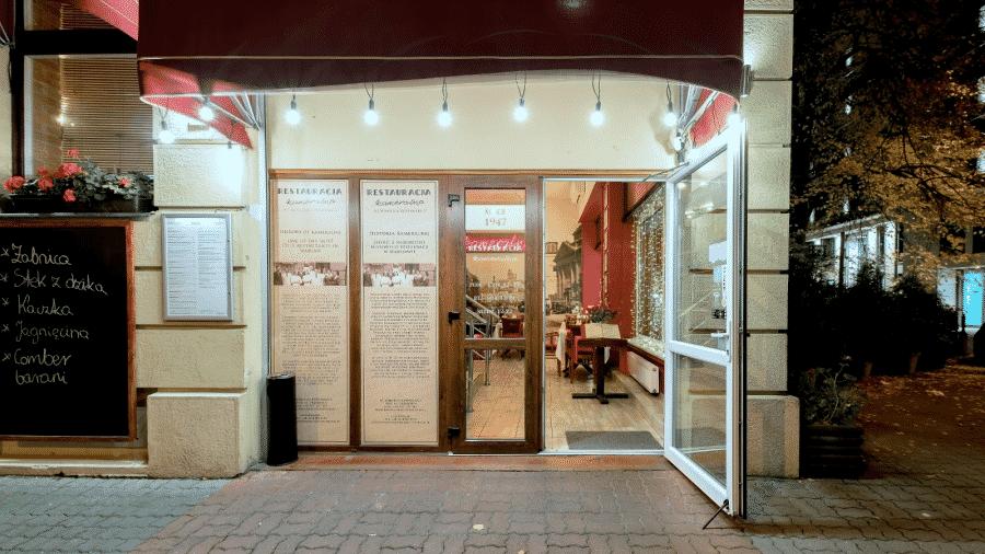 wejście do Restauracji Kameralna